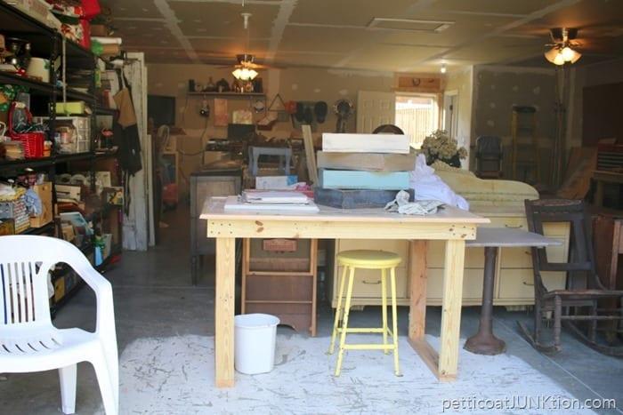 work area in Owen workshop