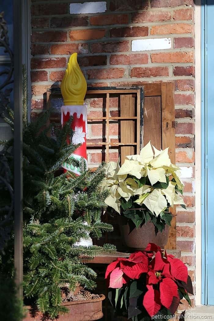 Bits and Pieces of My Christmas Porch Decor Petticoat Junktion
