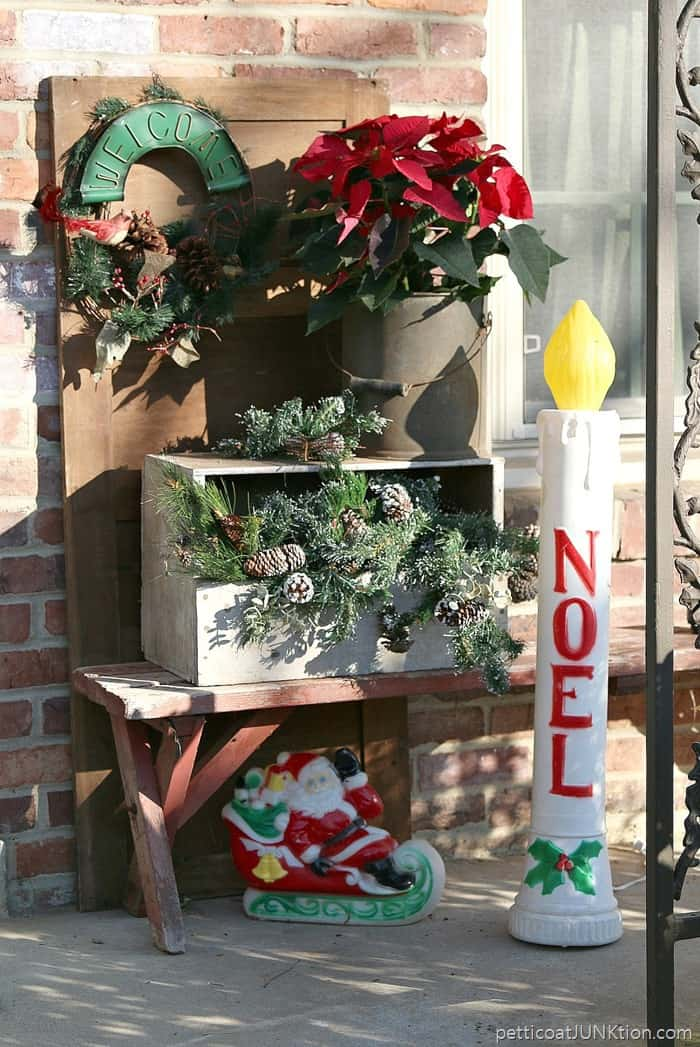 Bits and Pieces of Our Christmas Porch Decor