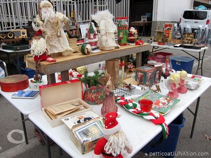 Christmas decor at the flea market