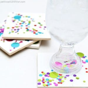 Colorful Confetti Coasters | 30 Minute DIY Gift Idea