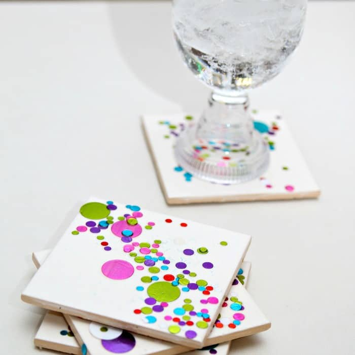 DIY Confetti Coasters Make Great Gifts