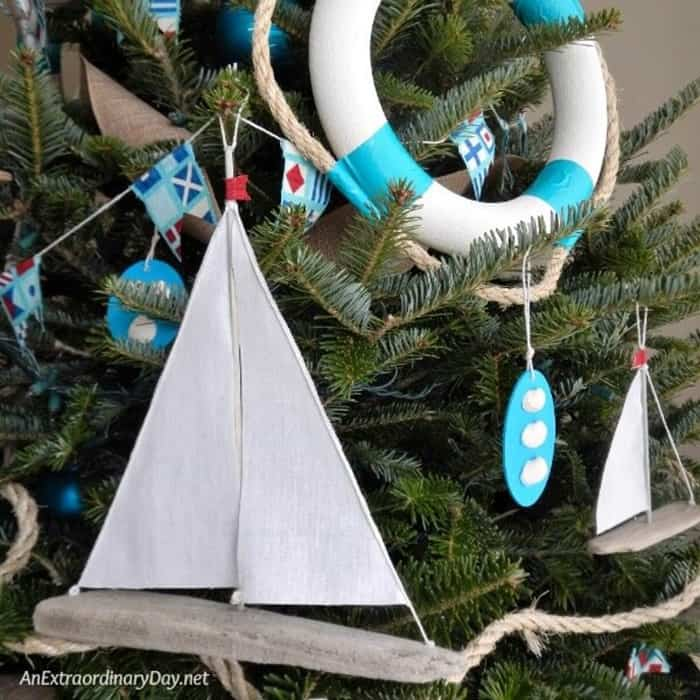 Decorate-the-tree-with-a-nautical-theme-this-year.-Follow-this-tutorial-and-make-easy-Sailboat-Christmas-Ornaments-from-AnExtraordinaryDay.net_