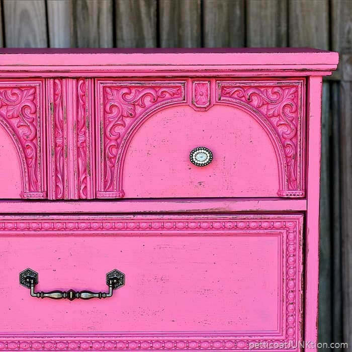 How to fake a distressed layered paint look on mdf furniture
