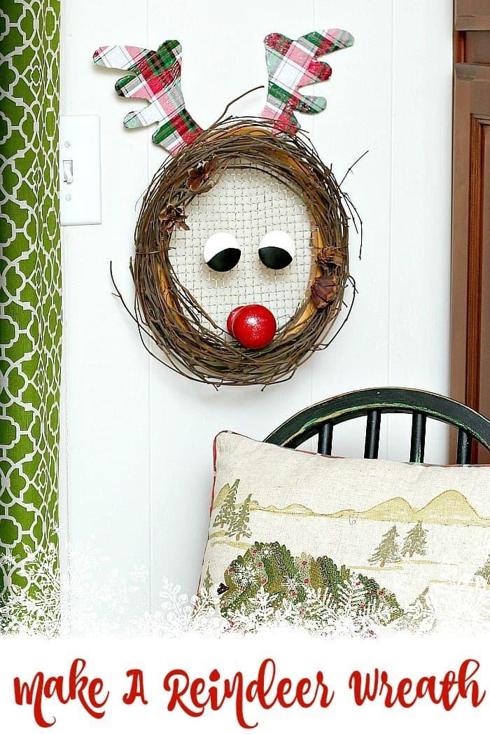 Make A Reindeer Christmas Wreath