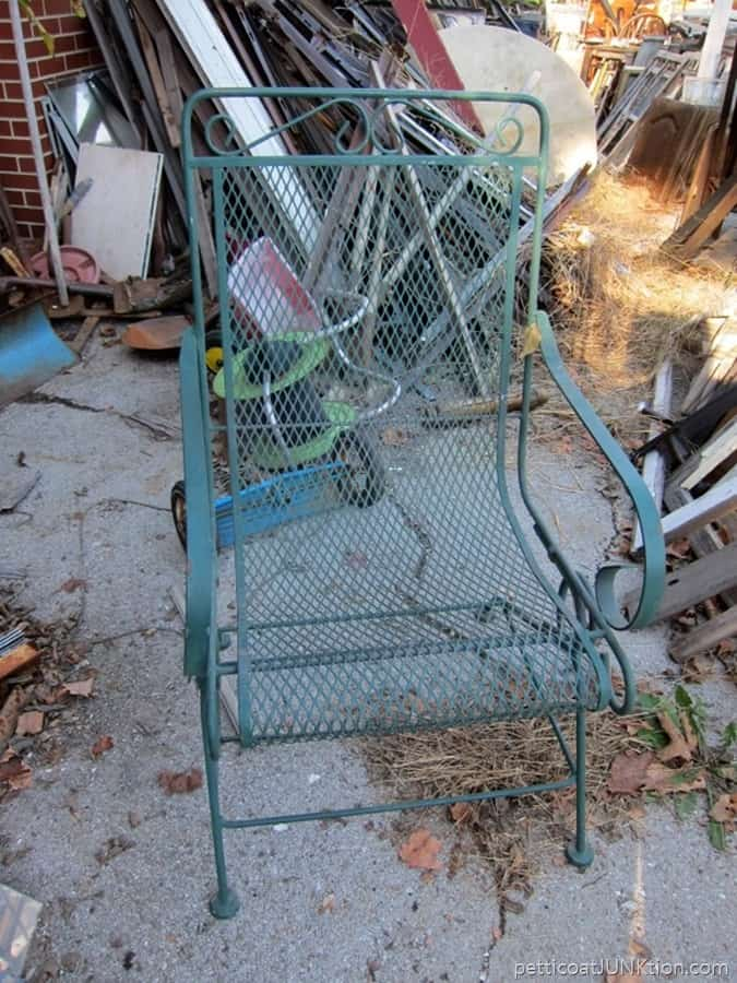 More Good Junk From My Junking Adventures and a new outdoor wrought iron chair for me
