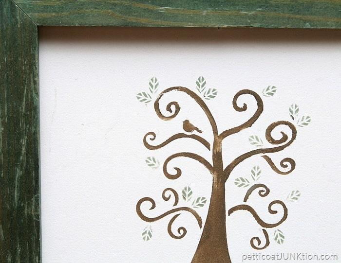 Partridge in a pear tree stencil project