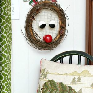 Rudolph The Red Nosed Reindeer Christmas Wreath