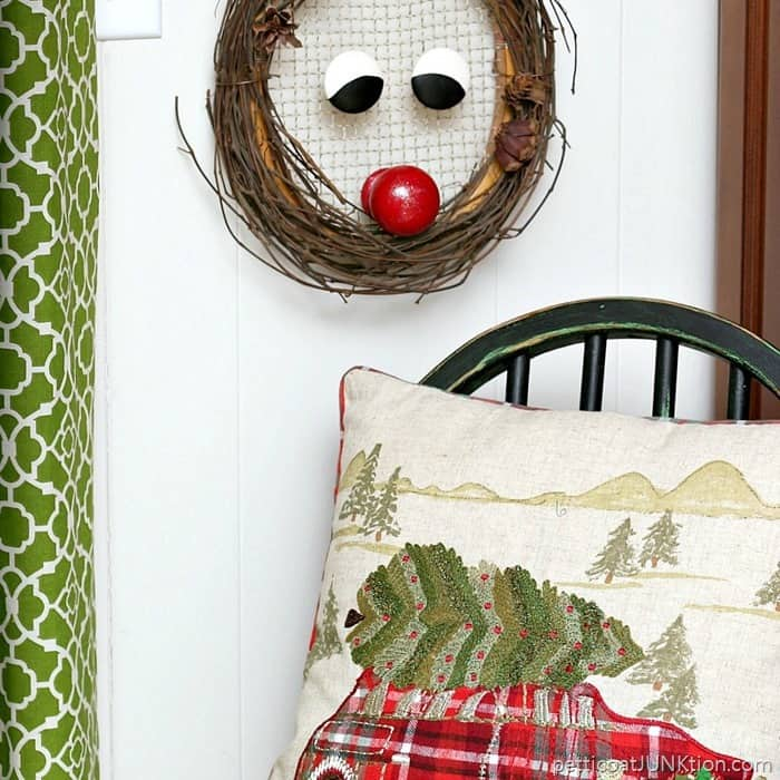 Rudolph the Red Nosed Reindeer DIY Christmas Wreath