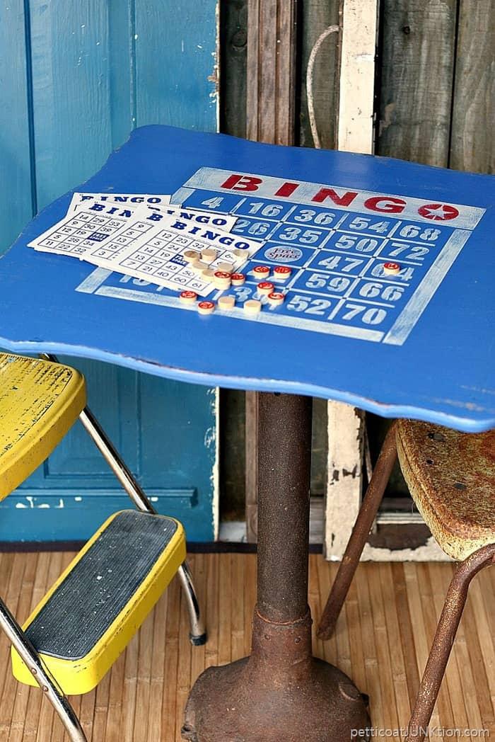 Bingo Stencil Game Table Idea
