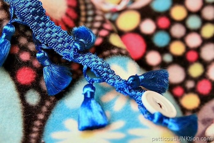 blue tassel trim for busy blanket