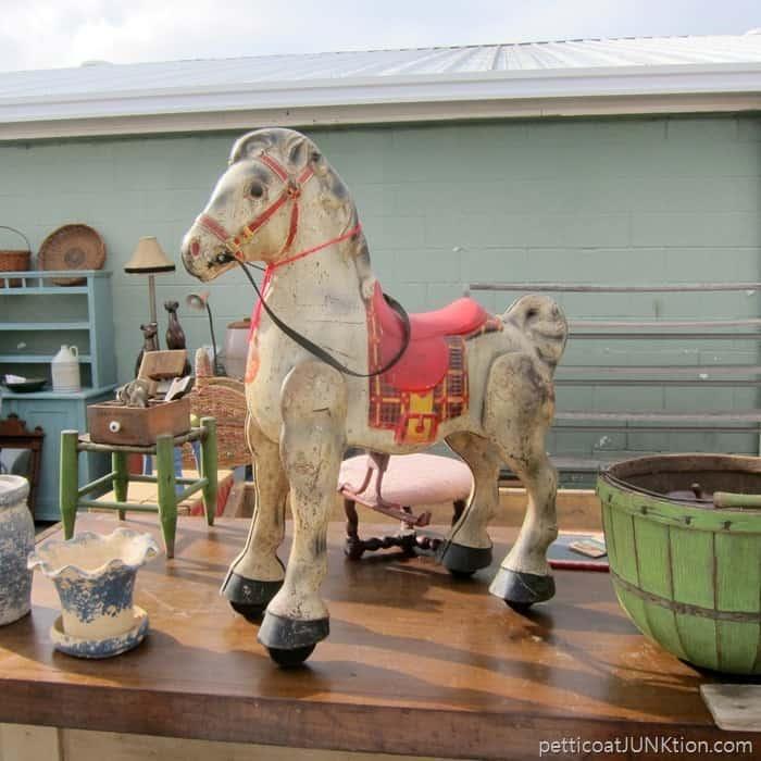 cool vintage horse at the Nashville Flea Market