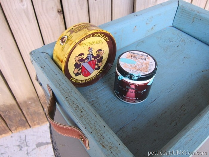 dark wax for antiquing and aging paint