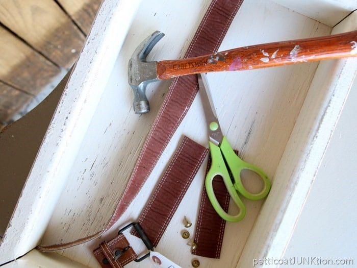 recycled belts for tray handles