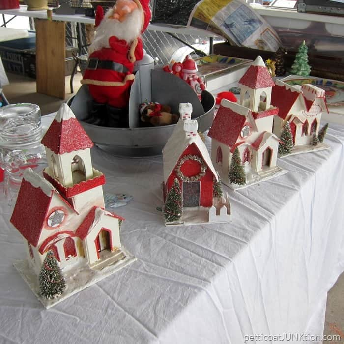 red roof Christmas village In love