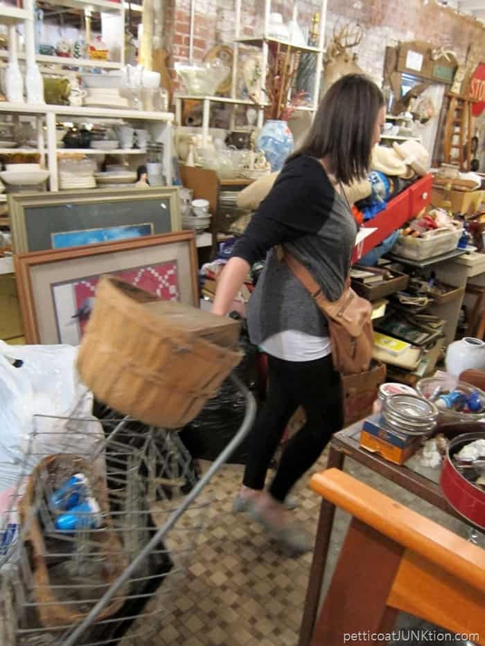 shopping with Beth at my favorite junk shop