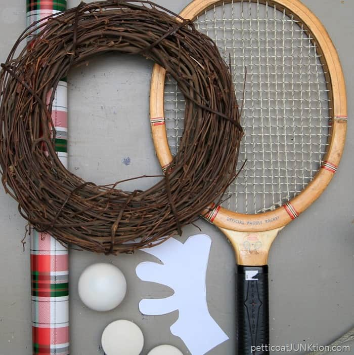 supplies for Rudolph Wreath