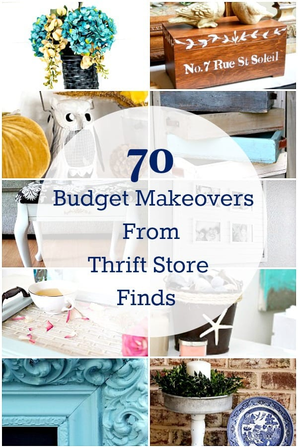 70 budget makeovers from thrift store decor finds for Diy flea market projects