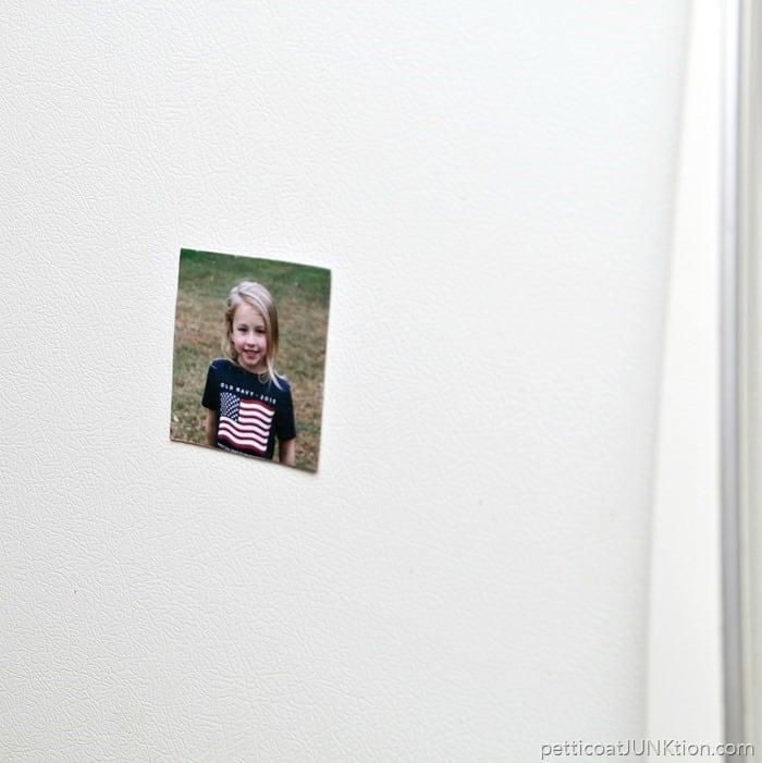 DIY Refrigerator Magnet Mod Podge Photo Transfer How To