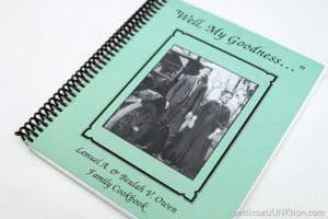 Grandma's Banana Cake Recipe and the Owen Family Cookbook