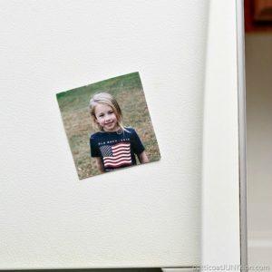 Mod Podge Photo Transfer Medium refrigerator magnet project