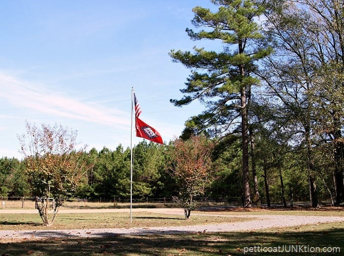 US and Arkansas Flags