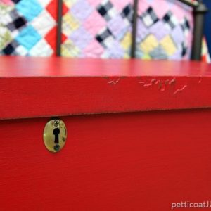 Cedar chest repairs and choosing the right red