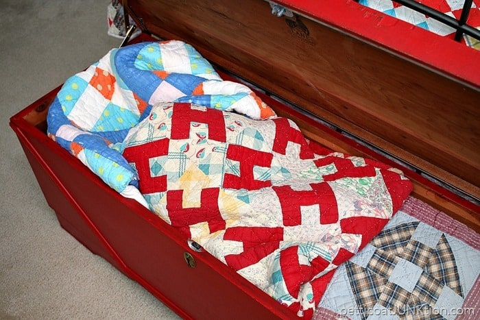 cedar chest quilt storage