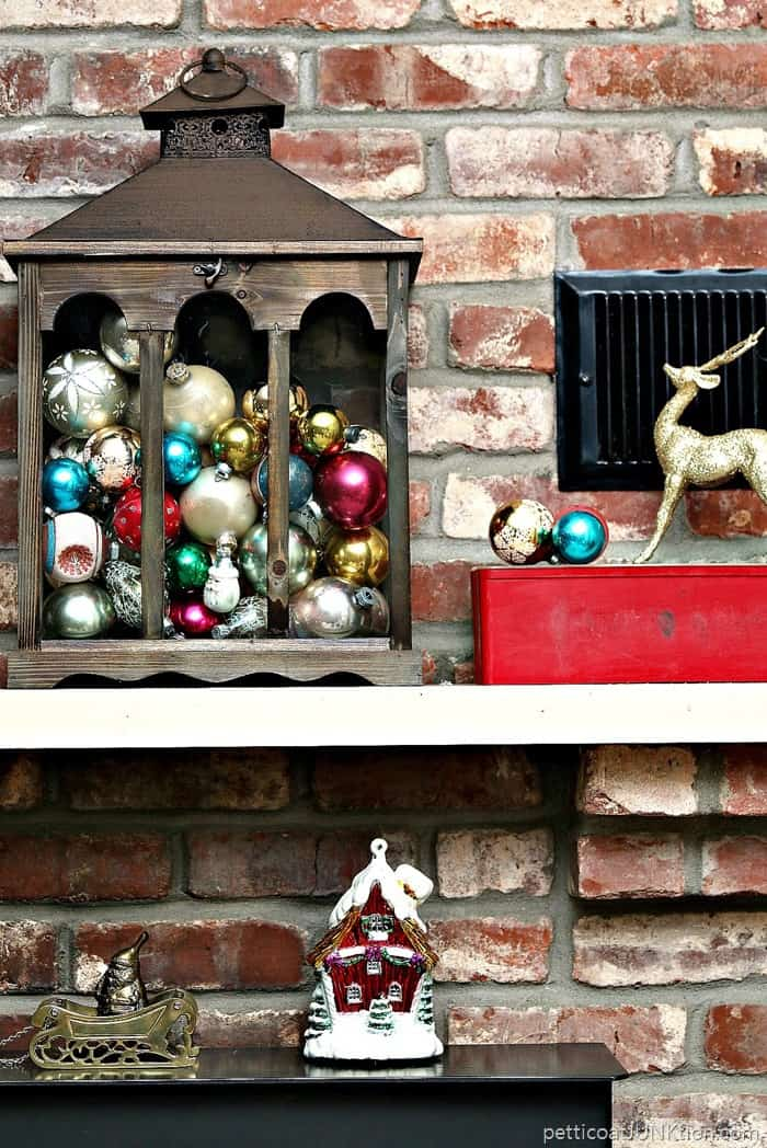 decorating a mantel with repurposed items