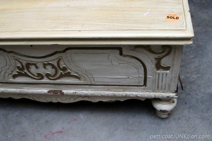 detailed vintage cedar chest