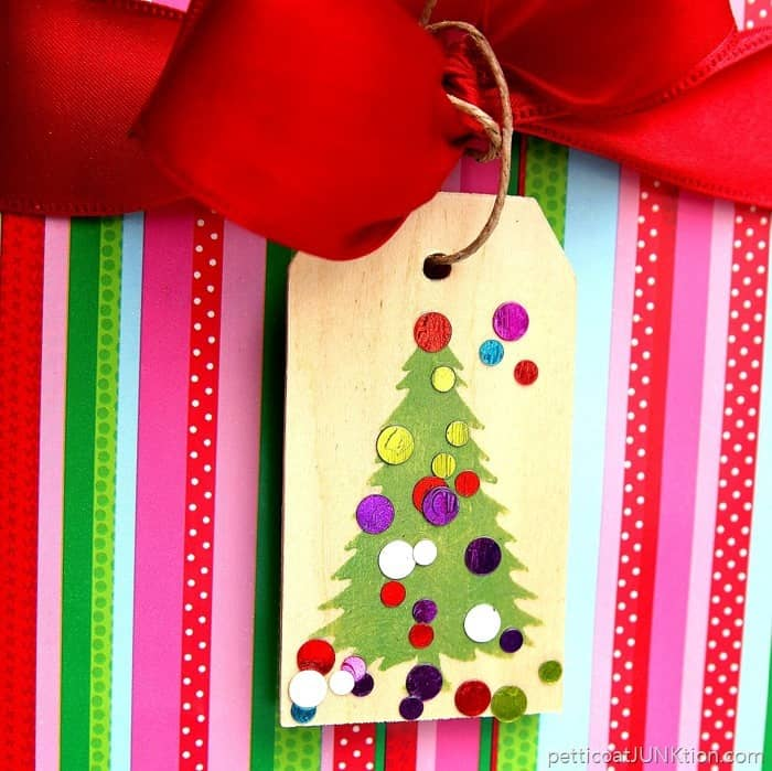 diy Christmas ornament gift tag project 1