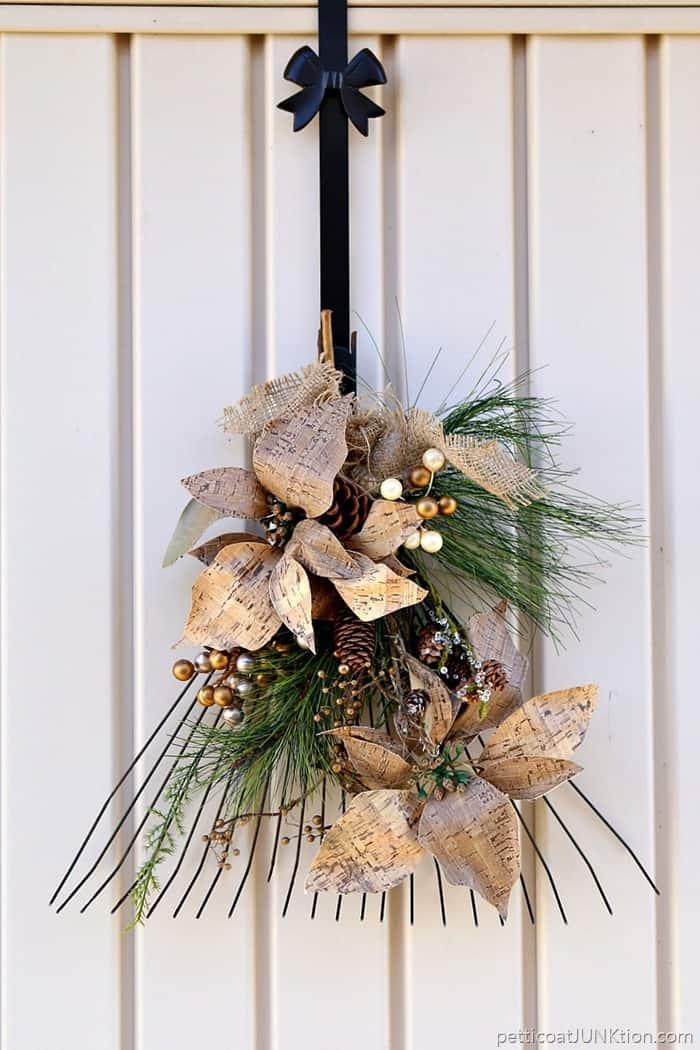 diy rake wreath