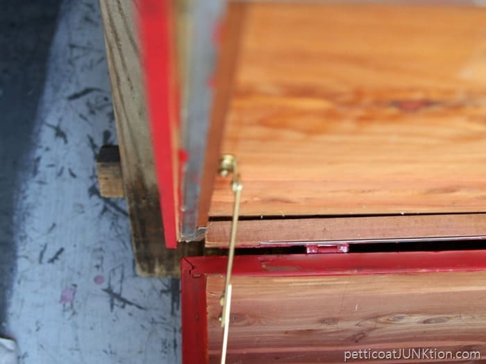left and right hinges for cedar chest lid