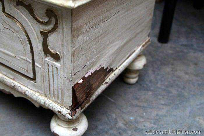 peeling veneer on furniture