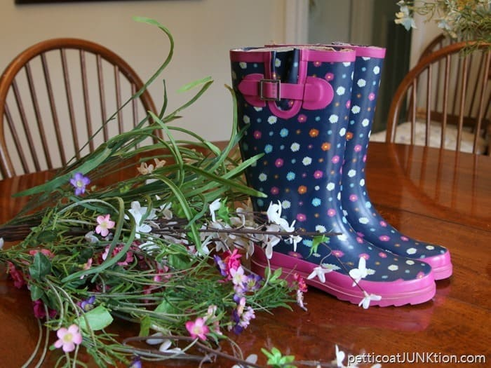 rain boot upcycle