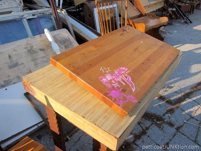 reclaimed butcher block top