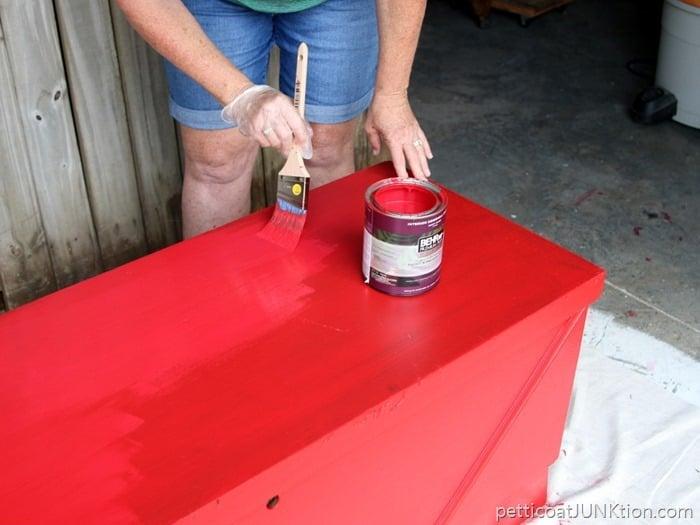 second coat of paint