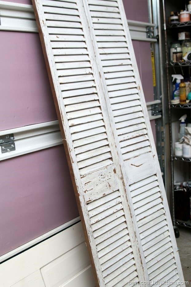 shabby chic shutter doors