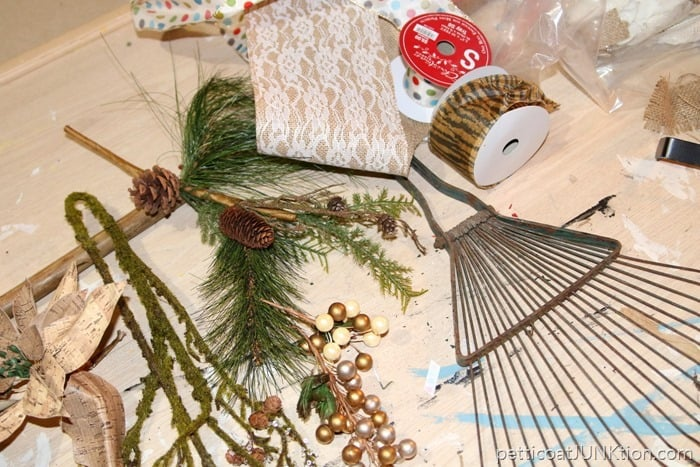 supplies for rake wreath