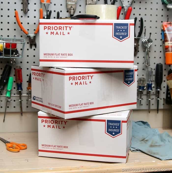 supplies packed for mailing