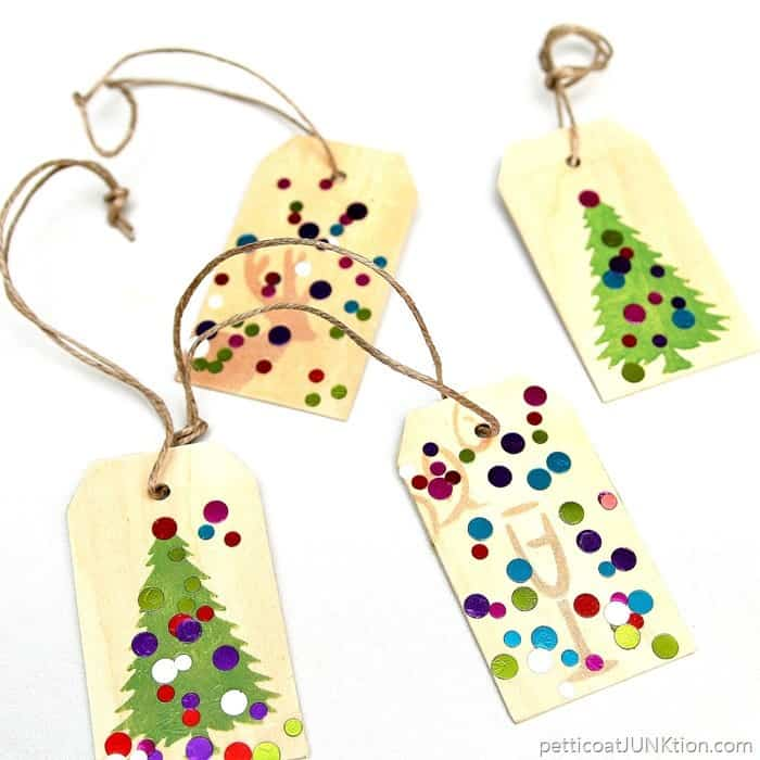 wood gift tags and ornaments. by Petticoat Junktion