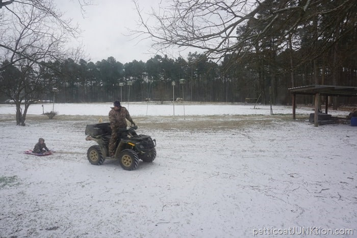 Arkansas January 2017 first snow of the year