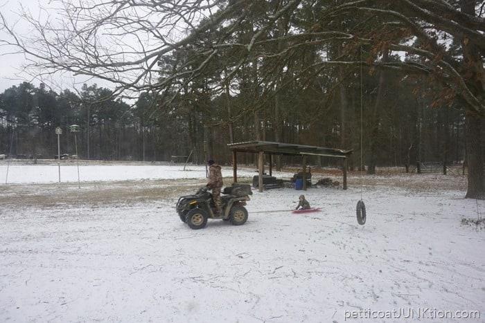 Arkansas January 2017 snow play