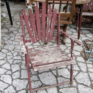 Junky Outdoor Chairs With Chipped Paint