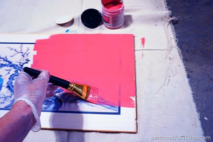 FolkArt pink chalkboard paint project by Petticoat Junktion
