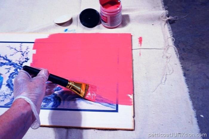 FolkArt pink chalkboard paint project by Petticoat Junktion