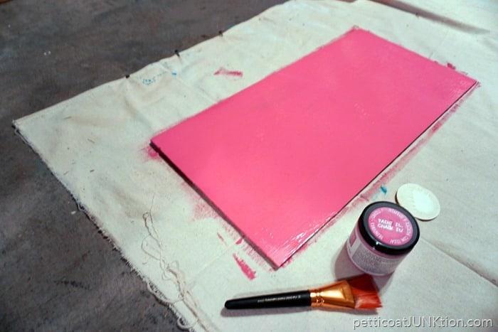 FolkArt pink chalkboard paint project