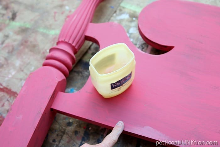 Vaseline Petroleum Jelly for distressing paint and furniture