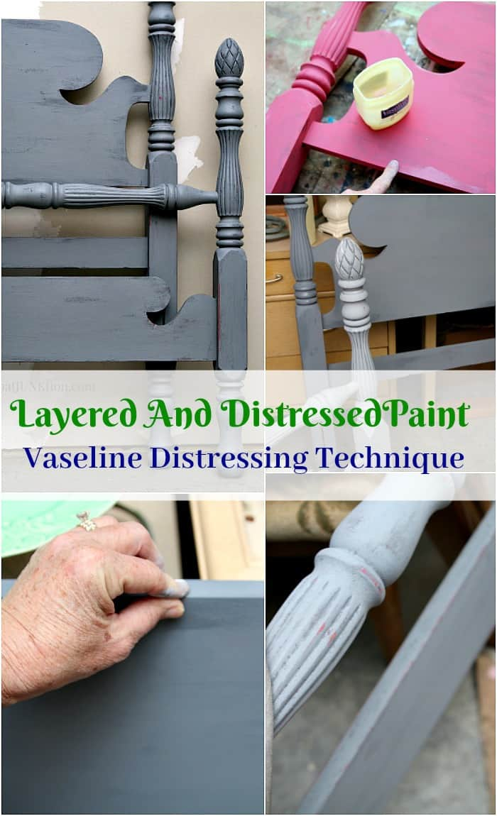 Vaseline Petroleum Jelly Paint Layering And Distressing