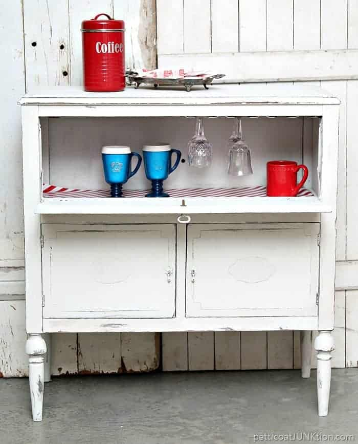 beverage cabinet for coffee and hot chocolate and wine
